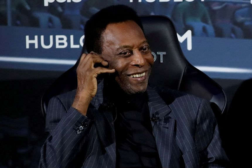 Pele (above, in 2019) said on Instagram he was feeling better and joked that he still had hopes of playing again.
