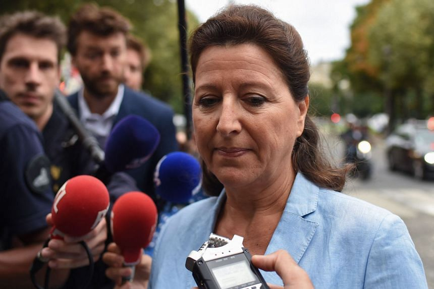 Agnes Buzyn speaks to reporters upon her arrival at the Court of Justice of the Republic in Paris on Sept 10, 2021.