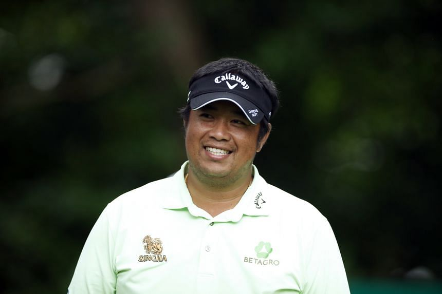 Kiradech Aphibarnratfollowed his eight-under 64 on Thursday with a 68 to reach 12 under at the halfway point.