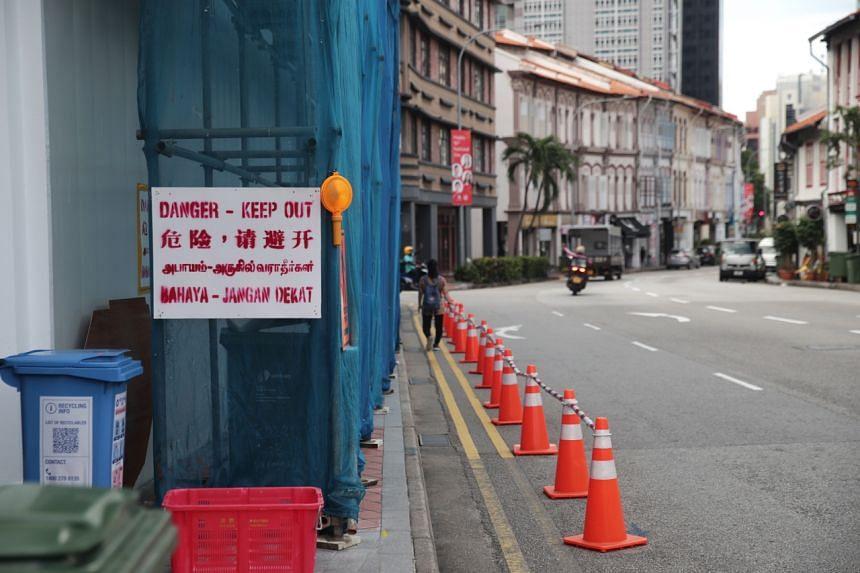The crash site at 37 Tanjong Pagar road as seen on Sept 1, 2021.