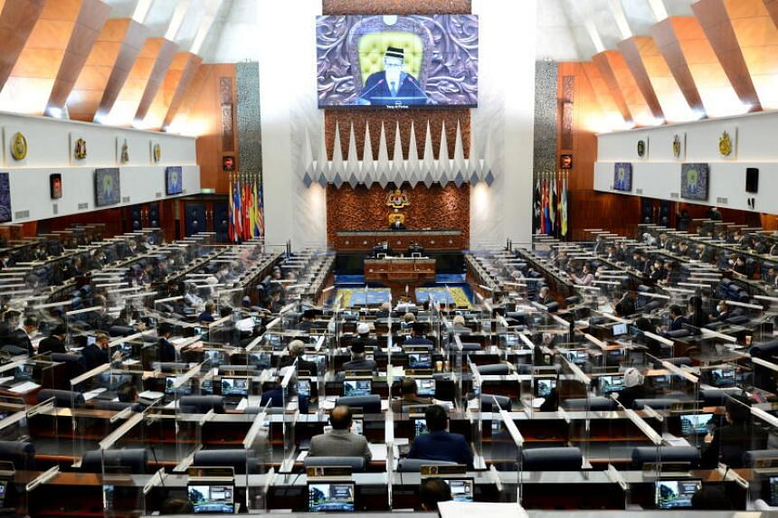 A Parliament session on July 26, 2021. Prime Minister Ismail Sabri Yaakob can count on the support of just 114 members of the 222-seat Parliament.
