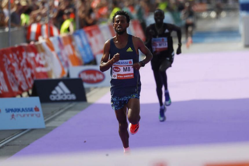 Ethiopia's Derara Hurisa crossed the line with a time of 2:09:22.