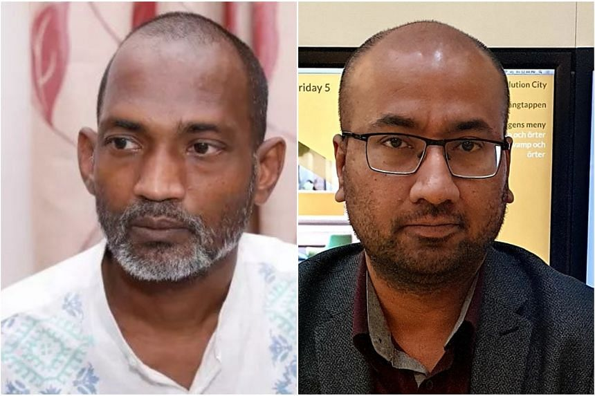 Cartoonist Ahmed Kabir Kishore (left) and journalist Tasneem Khalil face up to 10 years in prison if found guilty.