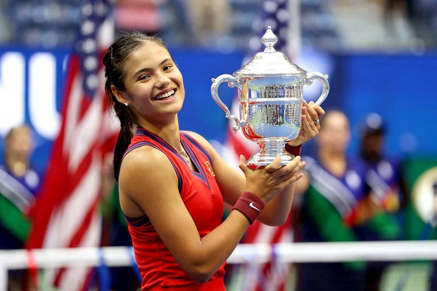 Emma Raducanu is the first British woman to hoist a major trophy since Virginia Wade triumphed at Wimbledon in 1977.