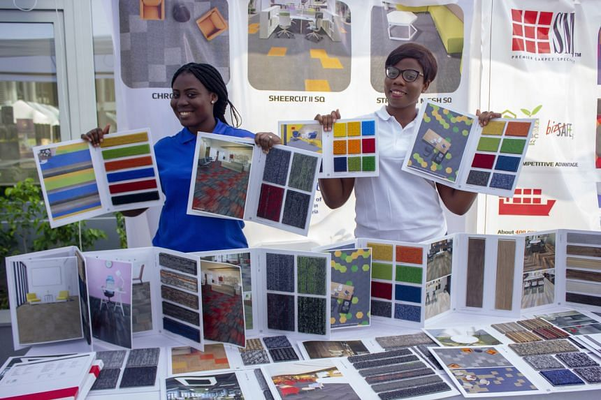 A booth space display on SMJ products at Ghana's Architecture and Design Fest in Nov 2019.