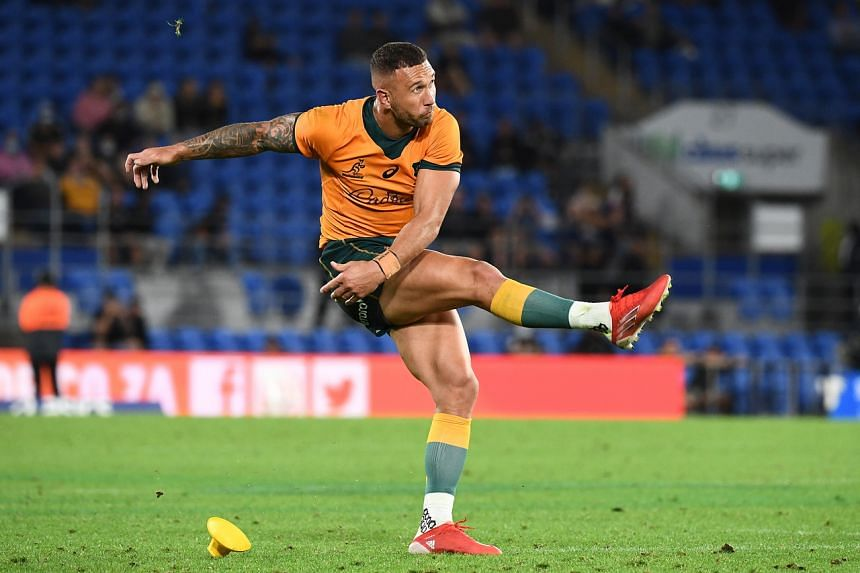 Quade Cooper slotted an amazing eight-from-eight kicks to score 23 of the Wallabies points in a triumphant return.