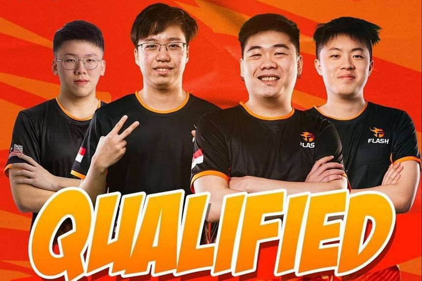 """(From left) Chui Zi Kang """"CZK"""",  Jerome """"Response"""" Kuek, Nicholas """"CoupDeAce"""" Ng and Charleston """"Scythe"""" Yeo  have qualified for the Nov 26-28 finals."""
