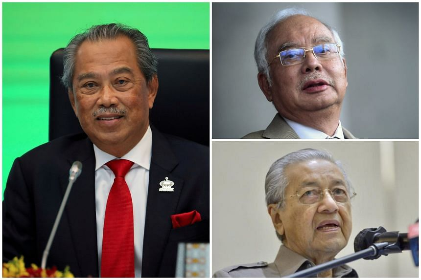 Former prime ministers (clockwise from left) Muhyiddin Yassin, Najib Razak and Mahathir Mohamad will be in attendance.