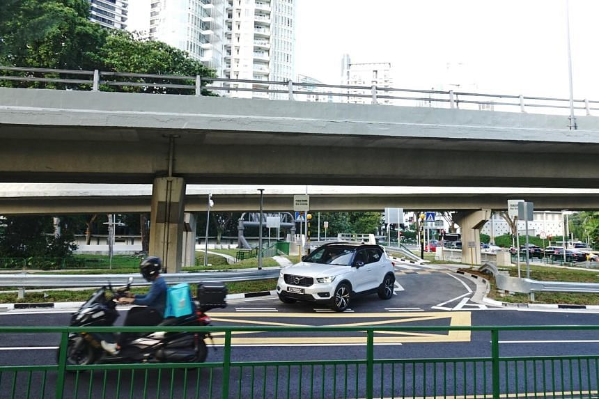 The new U-turn allows drivers to turn into Woodlands-bound Bukit Timah Road without having to use the congested roundabout.