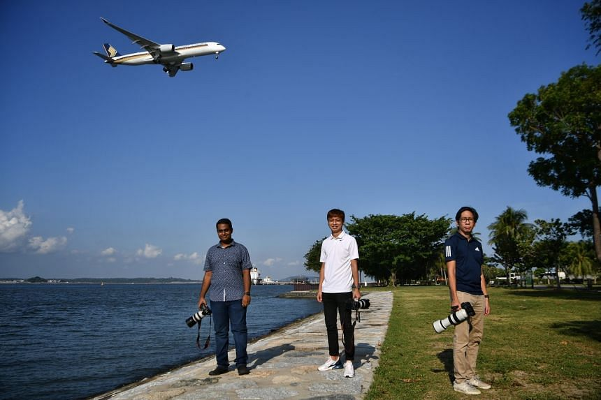 (From left) Jivesh Chander, Dillion Chong and Malcolm Lu at Changi Beach Park on Aug 3, 2021.