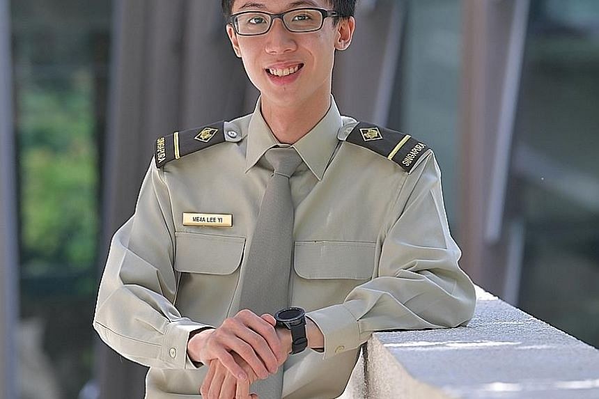 Mr Lee Yi is one of the first two recipients of the Singapore Armed Forces Merit Scholarship from the military's cyber security vocation, dubbed Command, Control, Communications and Computers Expert.