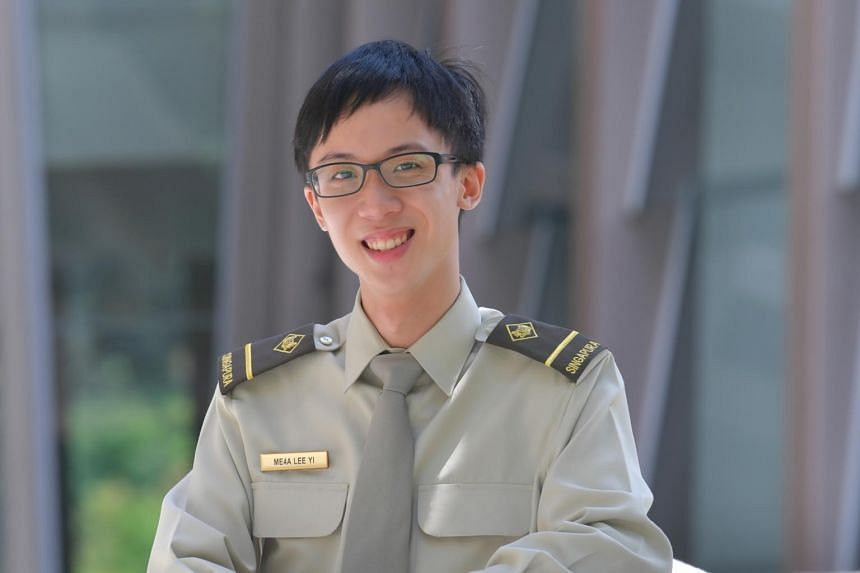 Mr Lee Yi is one of the first two recipients of the Singapore Armed Forces Merit Scholarship from the military's cyber security vocation.