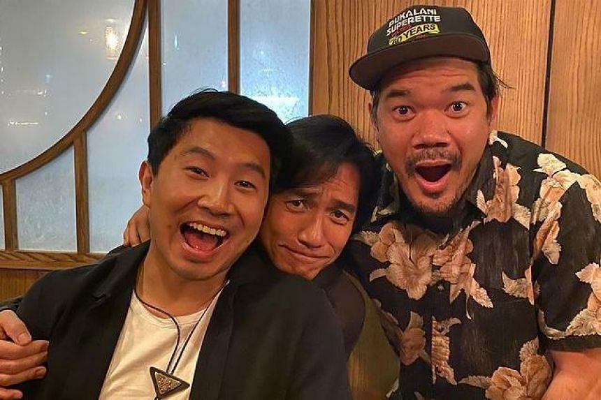 Tony Leung was seen with the movie director Destin Daniel Cretton and actor Simu Liu, who plays Shang-Chi.