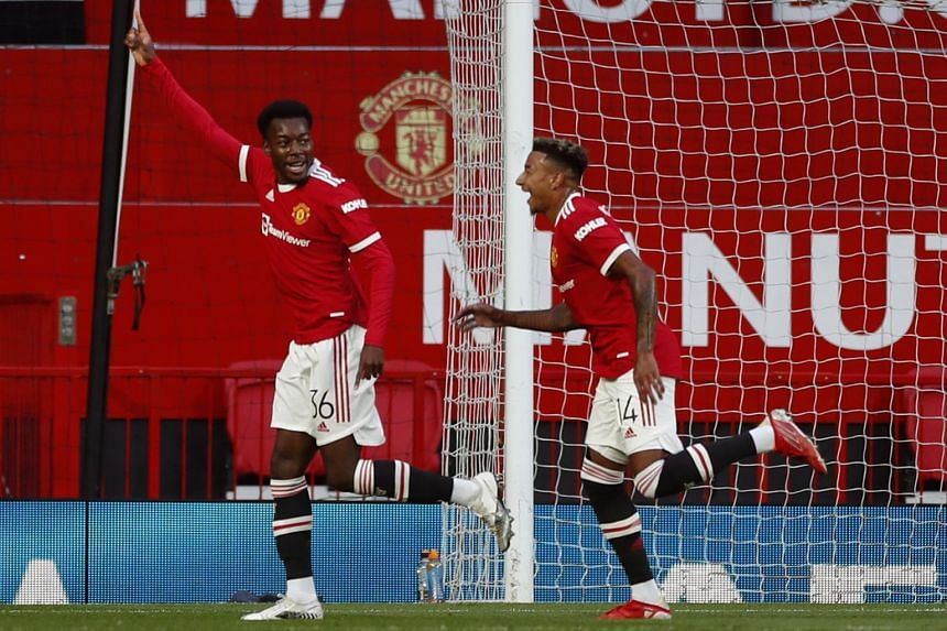 Ole Gunnar Solskjaer named youngsters such as striker Anthony Elanga (left) in the squad to face Swiss side Young Boys.