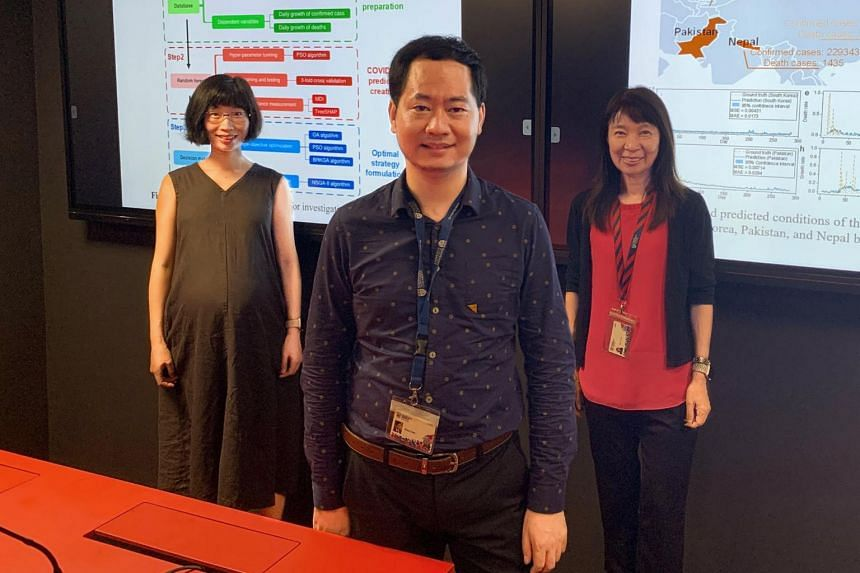 (From left) Assistant Professors Yan Zhenzhen and Zhang Limao and Professor May O. Lwin from NTU.