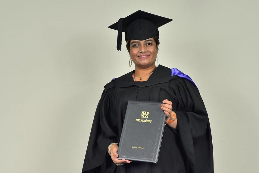 English tutor Sharmila Gopalakrishnan graduated with a postgraduate certificate from the Dyslexia Association of Singapore Academy.