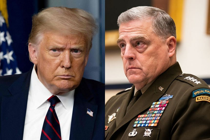 Amid concerns that Donald Trump (left) could spark a war with China, General Mark Milley (right) contacted his Chinese counterpart.