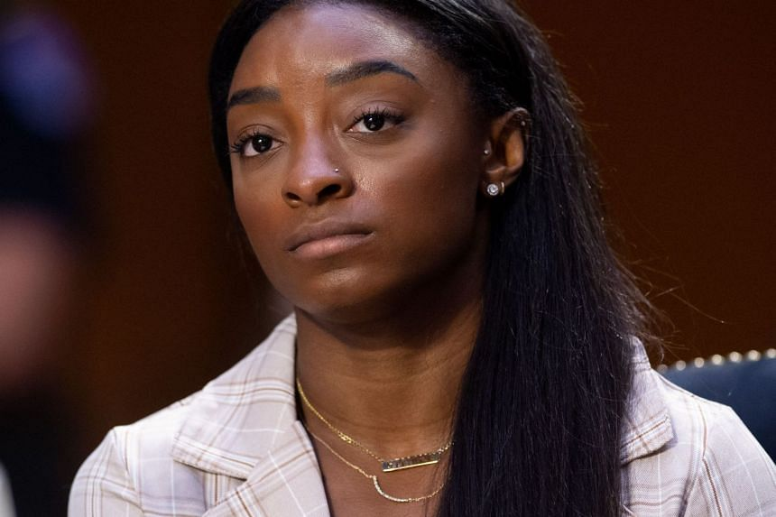 Olympic gymnast Simone Biles is pictured during a Senate Judiciary Committee hearing in Washington, on Sept 15, 2021.
