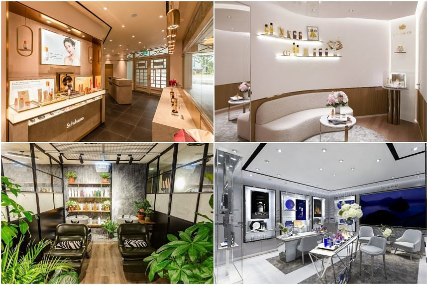 (Clockwise from top left): Sulwhasoo Capitol Beauty Lounge, Dior Prestige La Suite, La Prairie and Kantik Room.