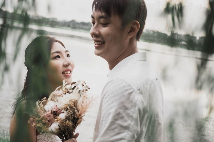 Mr Berton Tan, a 28-year-old teacher, is marrying Ms Evian Lim, 26, on Sept 18, 2021.