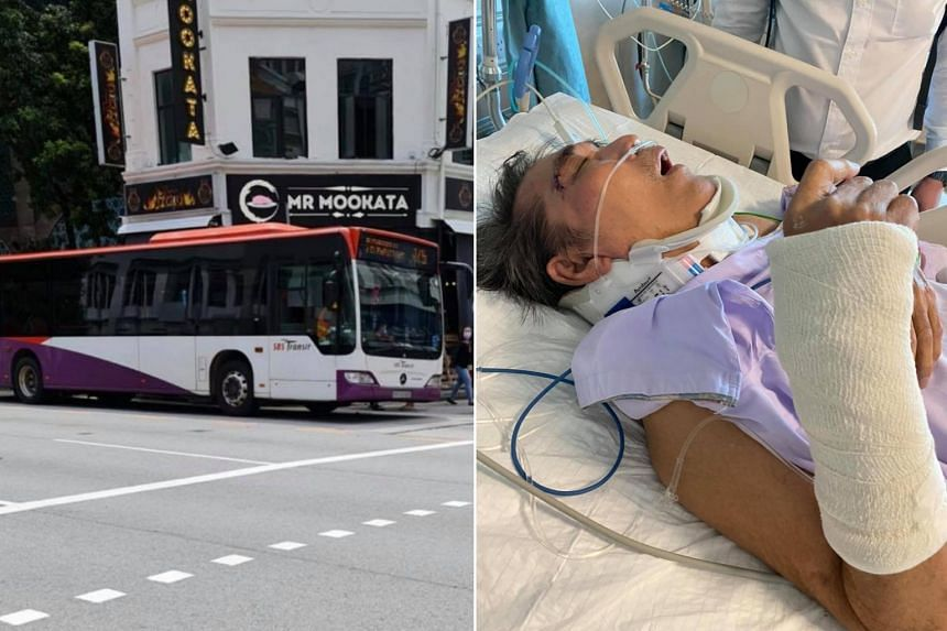 Mr Siah Keok Tiang suffered injuries to his head and multiple fractures when the bus he was on braked hard on Sept 8, 2021.
