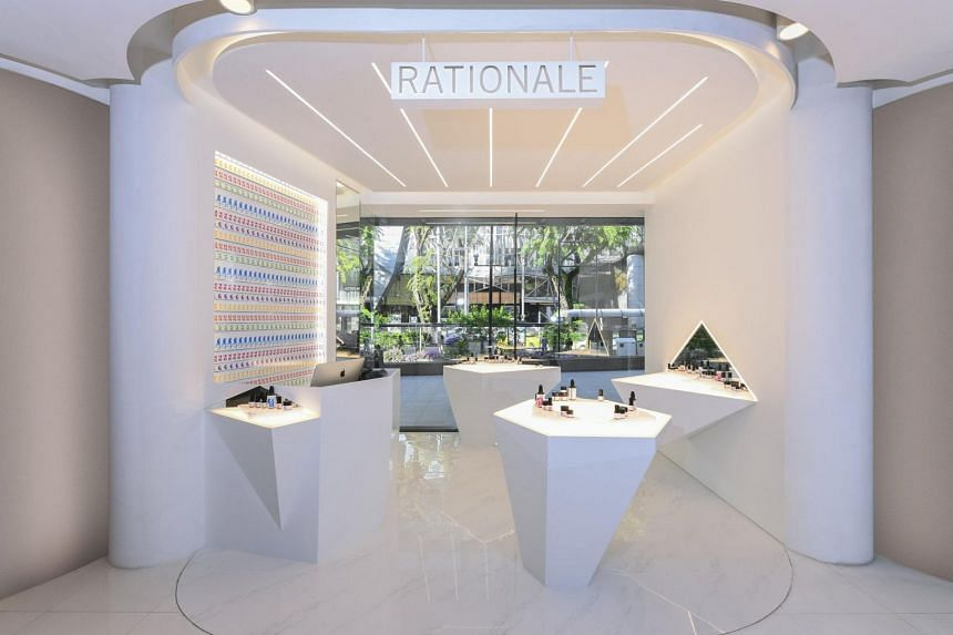 Australian cult luxury skincare label Rationale's flagship boutique at Tangs.