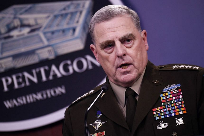 General Mark Milley (above) called his Chinese counterpart twice to say that the US was stable and not going to attack.