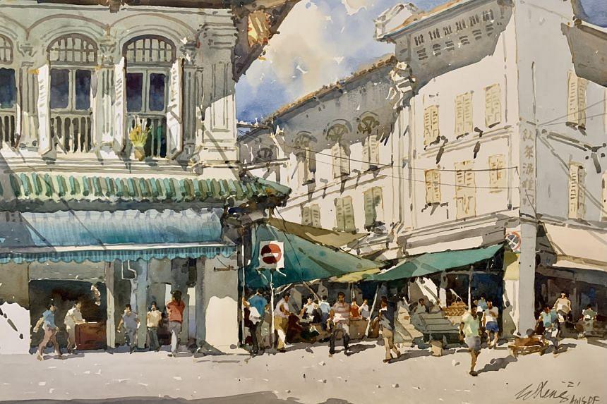 Temple Street Corner by Ong Kim Seng.