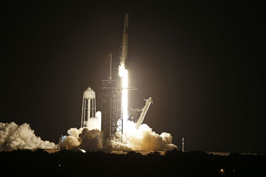 The SpaceX Falcon 9 rocket is launched from the Kennedy Space Centre on Sept 15.