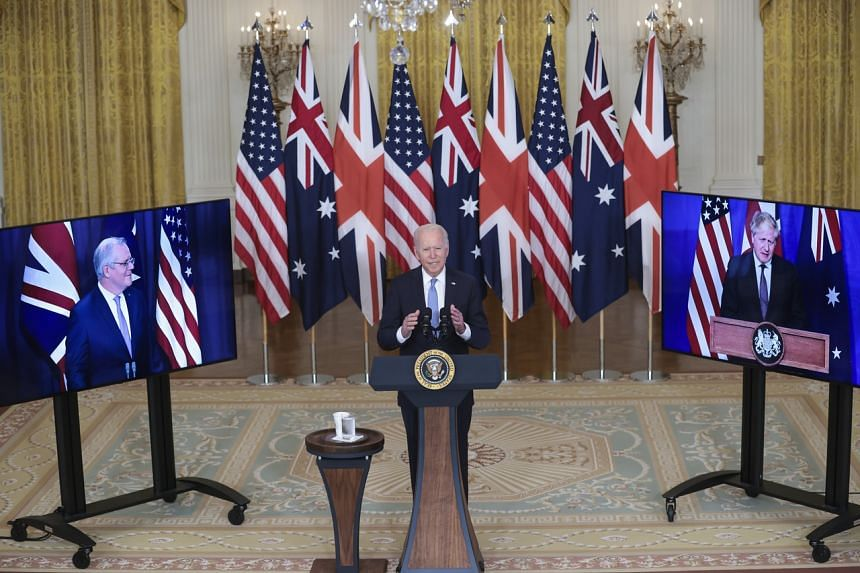 Australia, the United States and Britain said they would establish a security partnership for the Indo-Pacific.