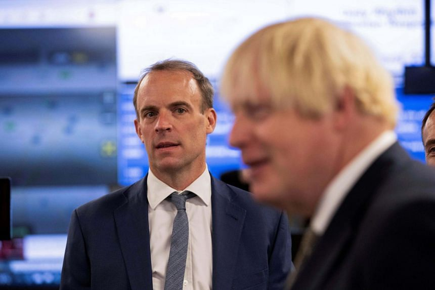 Mr Dominic Raab (left) has faced sustained criticism for his handling of the Afghan crisis.