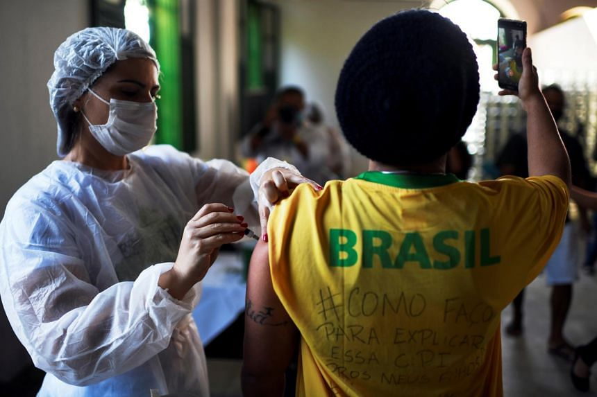The number of Brazilians with at least one jab has almost tripled to cover 67.6 per cent of the population.