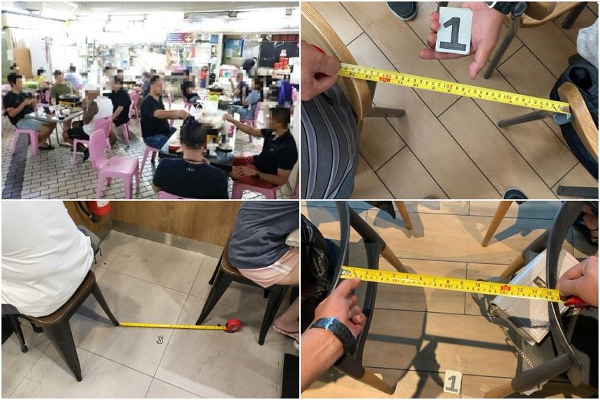 (Clockwise from top left) Ninja Eateries, NTUC Foodfare at AMK Hub, Penyet Town and Yu Kee Specialities are among the eateries ordered to close.