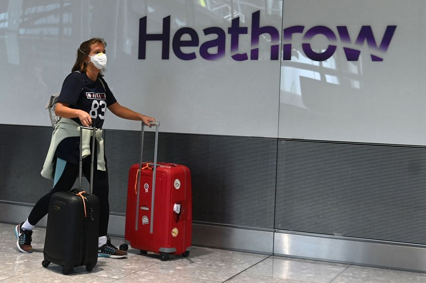 UK flights were down 39 per cent compared to pre-pandemic levels for the two weeks to early Sept 6, 2021.