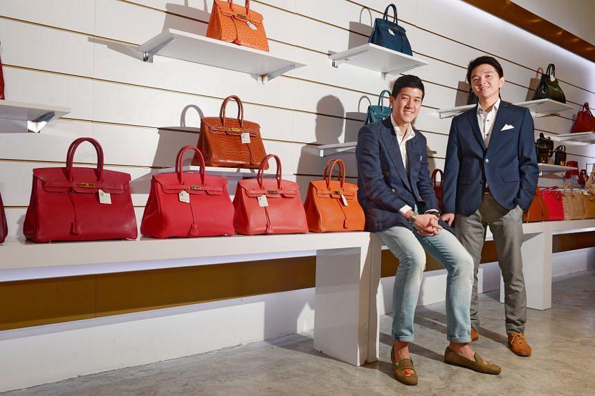 Reebonz co-founders Daniel Lim (left) and Benjamin Han in a photo taken in 2016.