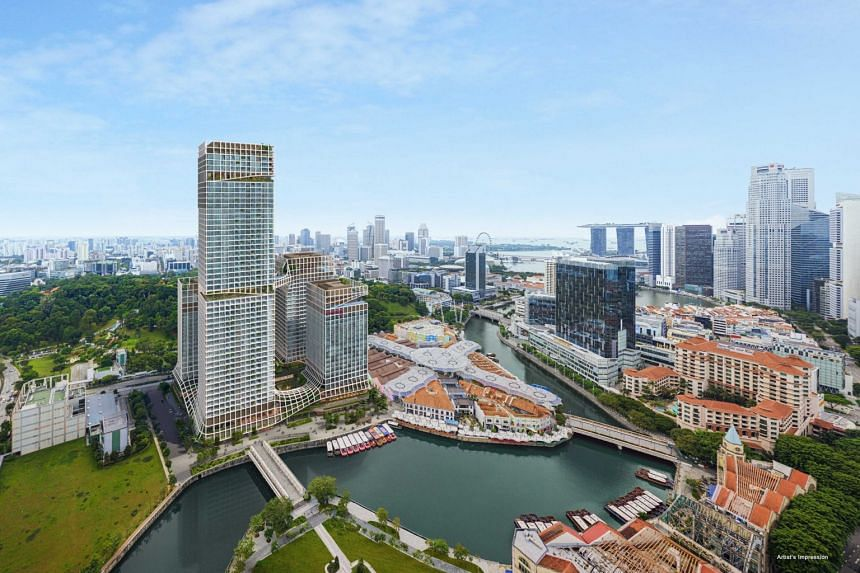An artist's impression of Canninghill Piers, located along the Singapore River at the former Liang Court site. Its upcoming launch is expected to draw strong interest.