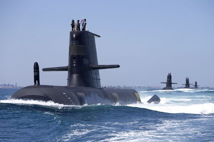 Australia is replacing its diesel and electric-powered Collins Class submarines (above).