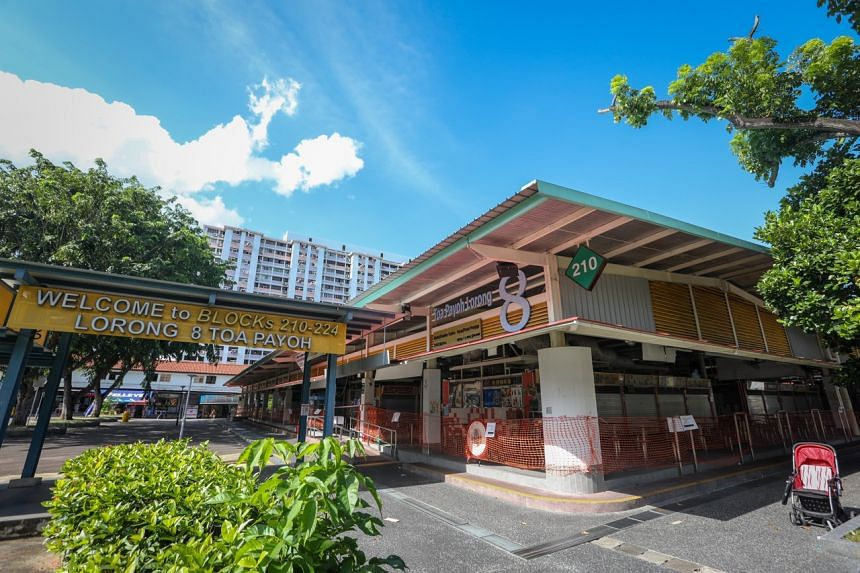 The market and hawker centre at Block 210 Toa Payoh Lorong 8 on Sept 17, 2021.