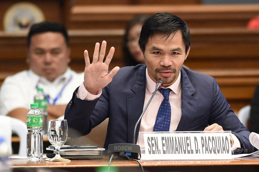 Despite his popularity, Mr Manny Pacquiao trails the front-runners in opinion polls.
