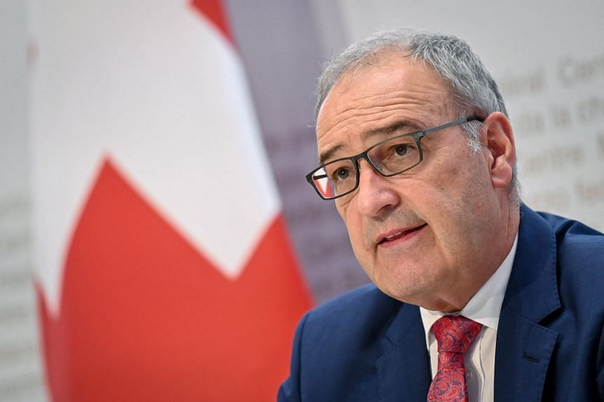 Swiss President Guy Parmelin (pictured) was slated to hold talks with French President Emmanuel Macron in November.