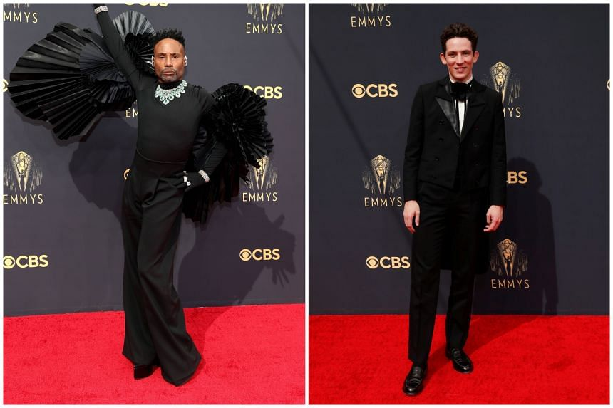 Pose star Billy Porter (left) and British actor Josh O'Connor.
