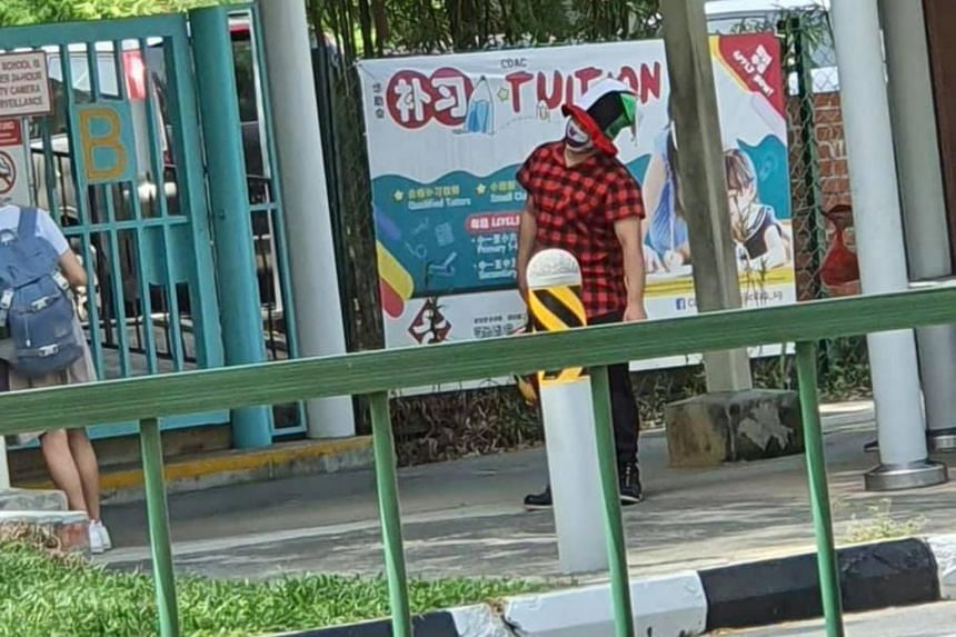 The clowns have been reportedly spotted in several locations, such as Katong and Tampines.
