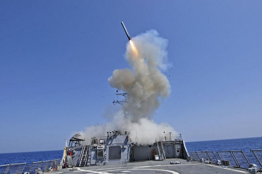 A Tomahawk cruise missile on March 29, 2011. Australia acquired American nuclear-powered vessels after secret talks.