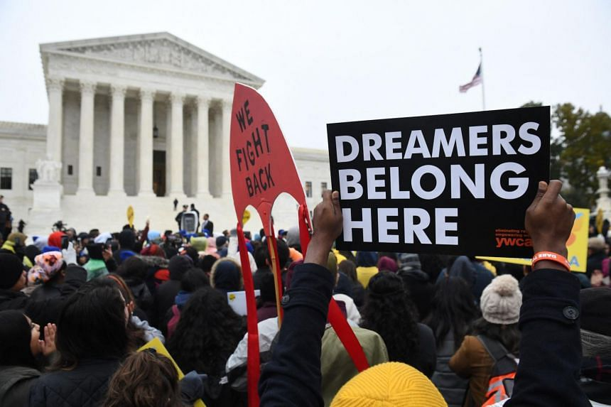 Immigration rights activists at a rally in Washington in 2019. The proposed provision aimed to give a path to citizenship for millions, including so-called Dreamer immigrants.