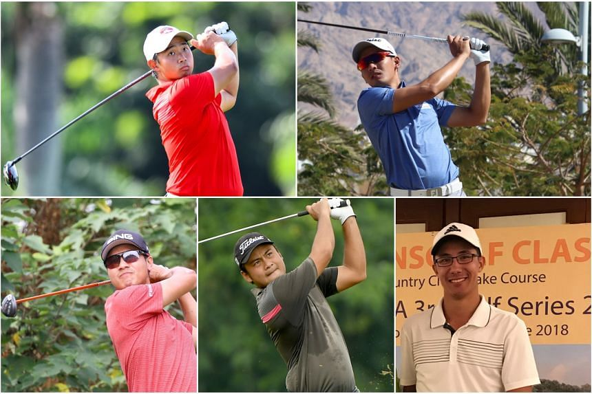 (Clockwise from top left) Nicklaus Chiam, Abdul Hadi Uda Thith, Jesse Yap, Koh Deng Shan and Gregory Foo.
