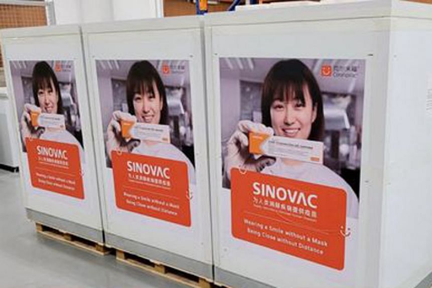 Health Minister Ong Ye Kung said the new stock of Sinovac doses will benefit people who are allergic to mRNA shots.