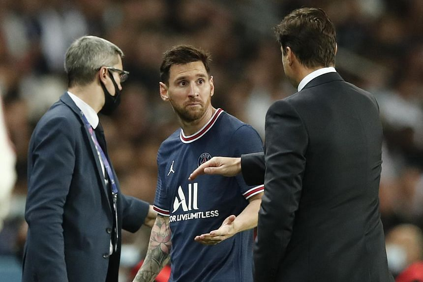 Lionel Messi was substituted in the 75th minute of Paris Saint-Germain's match against Lyon on Sept 19, 2021.