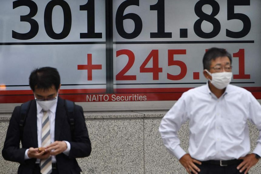 Japan's Nikkei returned from a market holiday with a drop of almost 2 per cent.