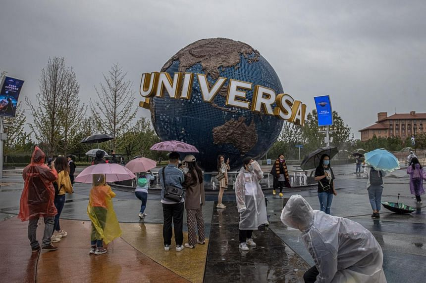 Response to Universal Beijing Resort's opening was strong on Monday.