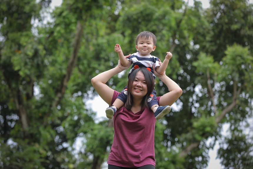Ms Adelin Wong said she feels lethargic while carrying her son and, at other times, she is unable to run after him.